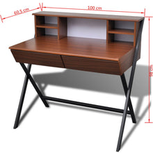 Load image into Gallery viewer, Solid Study Desk Oak Color