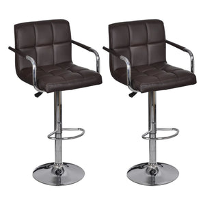 2 × Pu Leather Bar Stool with Armrests