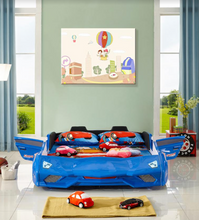 Load image into Gallery viewer, Super Cool FX888 Kids Car Bed Blue