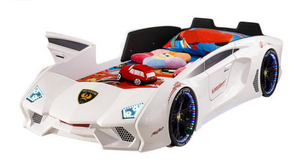 Super Cool FX888 Kids Car Bed White