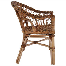 Load image into Gallery viewer, Natural Rattan 4 Pcs Brown Outdoor Chairs