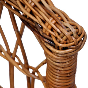 Natural Rattan 4 Pcs Brown Outdoor Chairs