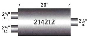 "5"" x 9"" Oval Single/Dual Truck Style Performance Muffler (3 sizes available)   - FREE Shipping in Contiguous US!"