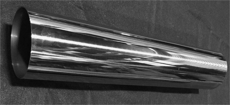 "4"" OD Polished Stainless Steel Exhaust Tubing, Welded 14 Gauge (.083"") - 2' Length  -FREE Shipping in Contiguous US!"