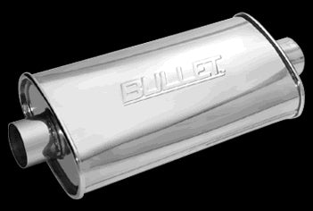 "4"" x 8"" Bullet Performance Oval Muffler -FREE Shipping in Contiguous US!"