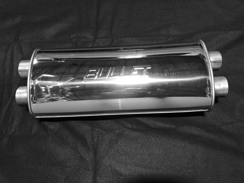 "5"" x 9"" Oval 20"" Long Body Dual/Dual Performance Muffler - available  in 2.25"" AND 2.5""   - FREE Shipping in Contiguous US!"
