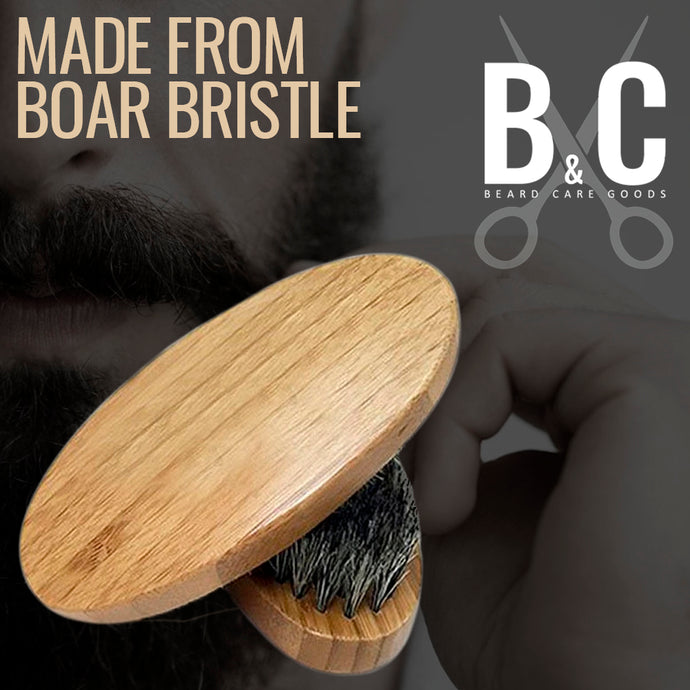 Beard Brush for Men - Facial Hair Comb for Mustache Conditioning Styling & Maintenance