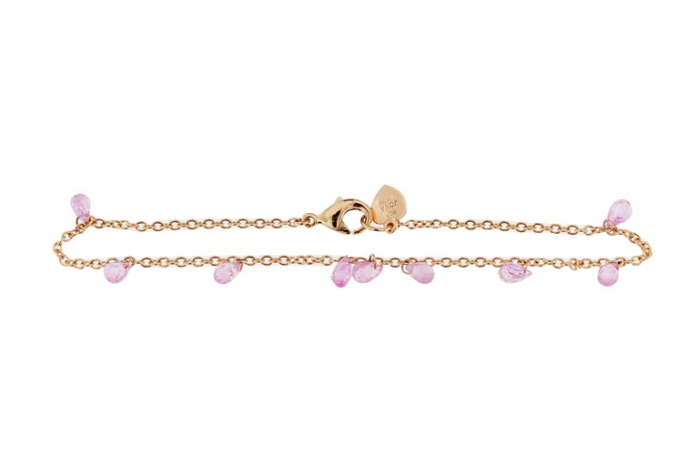Jona Pink Sapphire Gold Bracelet In New Condition In Torino IT