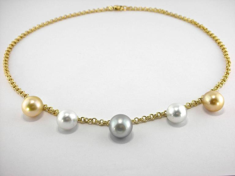 South Sea and Tahitian Pearl Gold Necklace