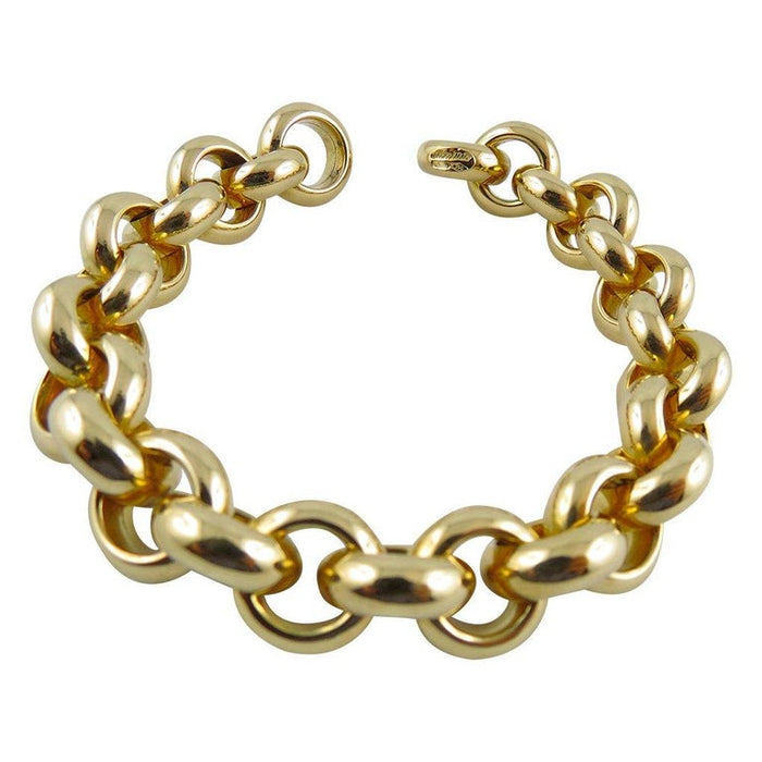 18 Karat Yellow Gold Link Chain Bracelet
