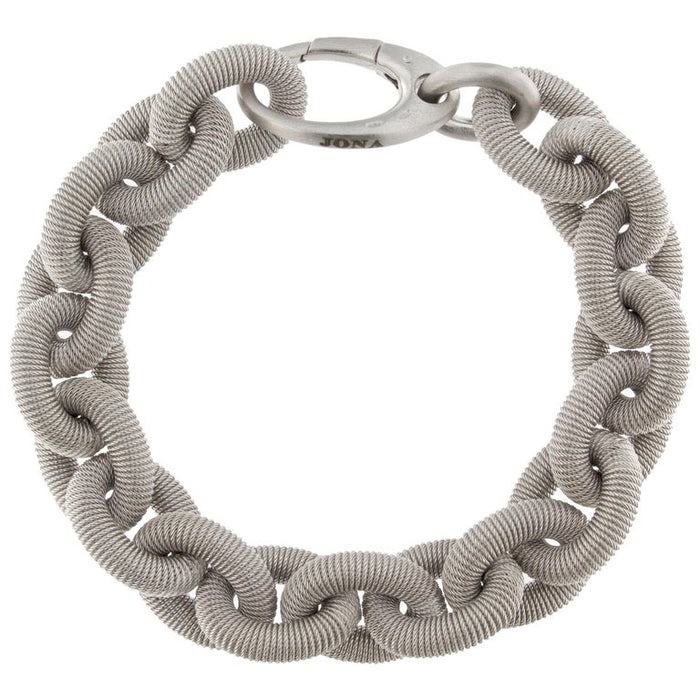 Sterling Silver Twisted Wire Chain Link Bracelet
