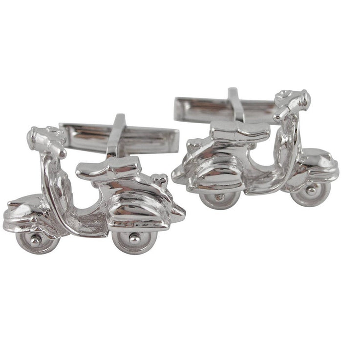 Silver Scooter Cufflinks