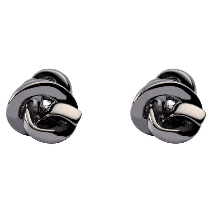 Sterling Silver Ruthenium Knot Cufflinks