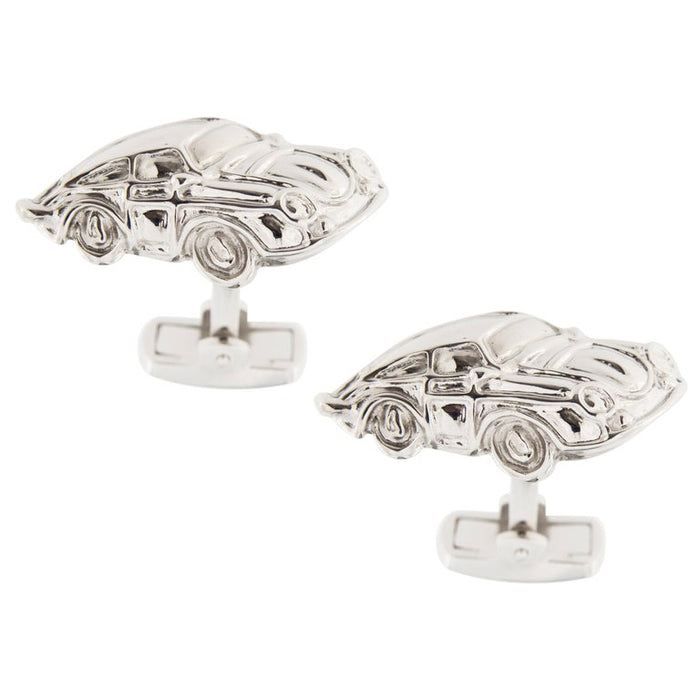 Sterling Silver Rhodium-Plated Porsche Cufflinks