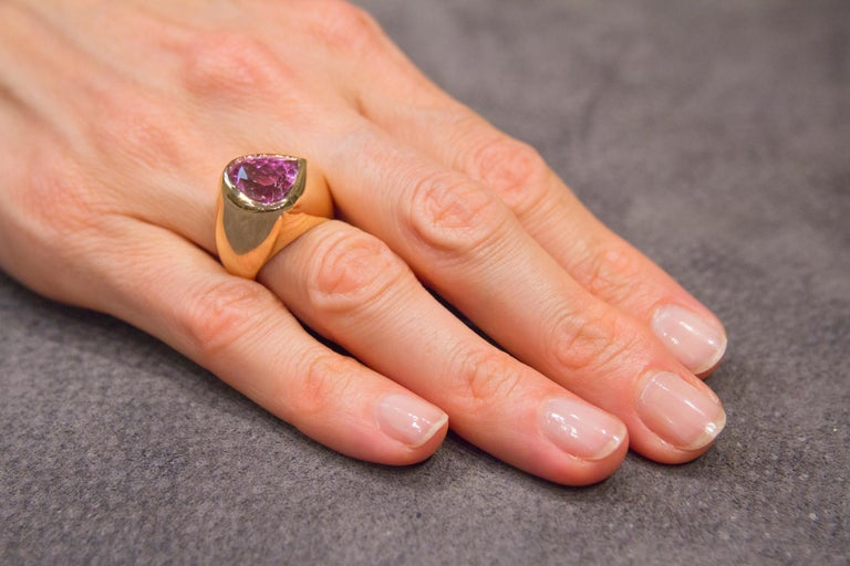 Heart Shape Kunzite 18 Karat Rose Gold Ring