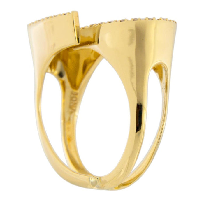 White Diamond 18 Karat Yellow Gold Ring