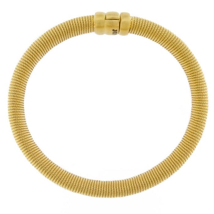 Jona Gold-Plated Sterling Silver Bangle Bracelet In New Condition For Sale In Torino IT