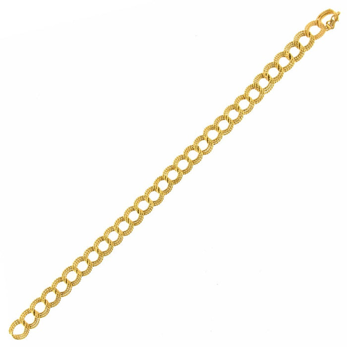 Jona 18 Karat Yellow Gold Link Bracelet In New Condition For Sale In Torino IT