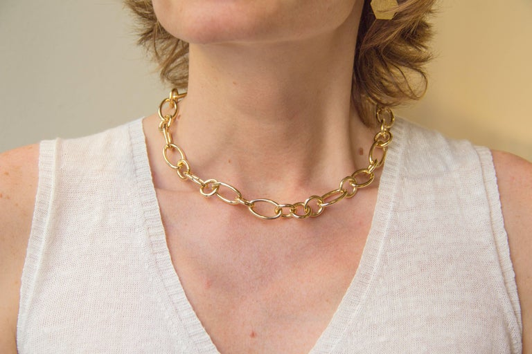 18 Karat Yellow Gold Link Chain Necklace