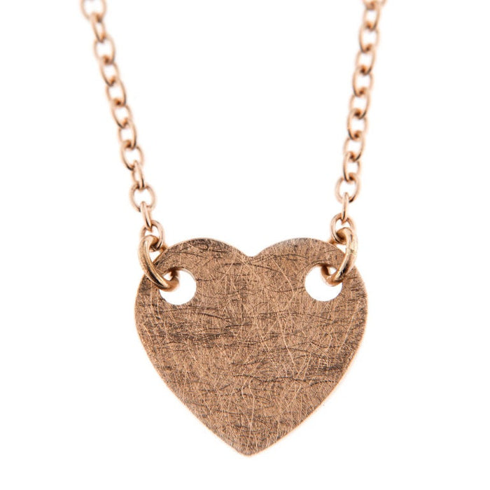Jona 18 Karat Rose Gold Heart Pendant Necklace In New Condition For Sale In Torino IT