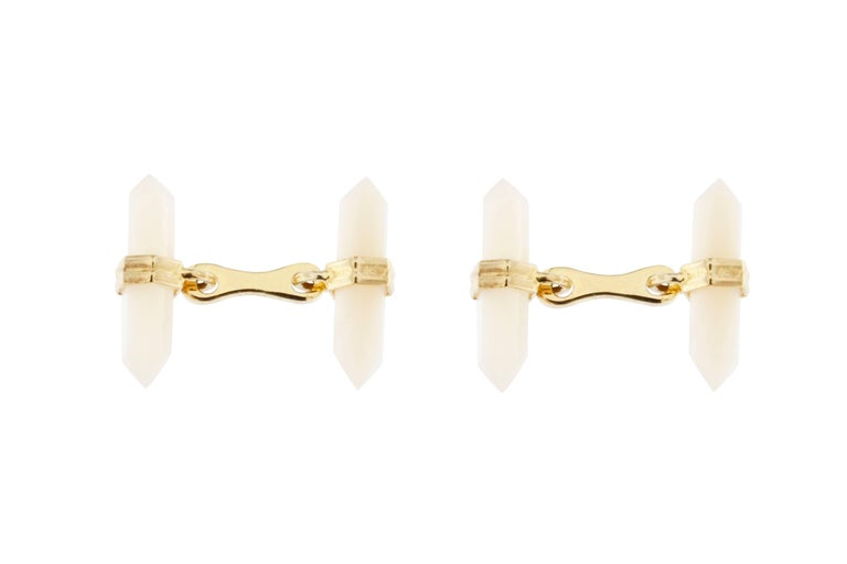 Mother-of-Pearl Gold-Plated Sterling Silver Cufflinks