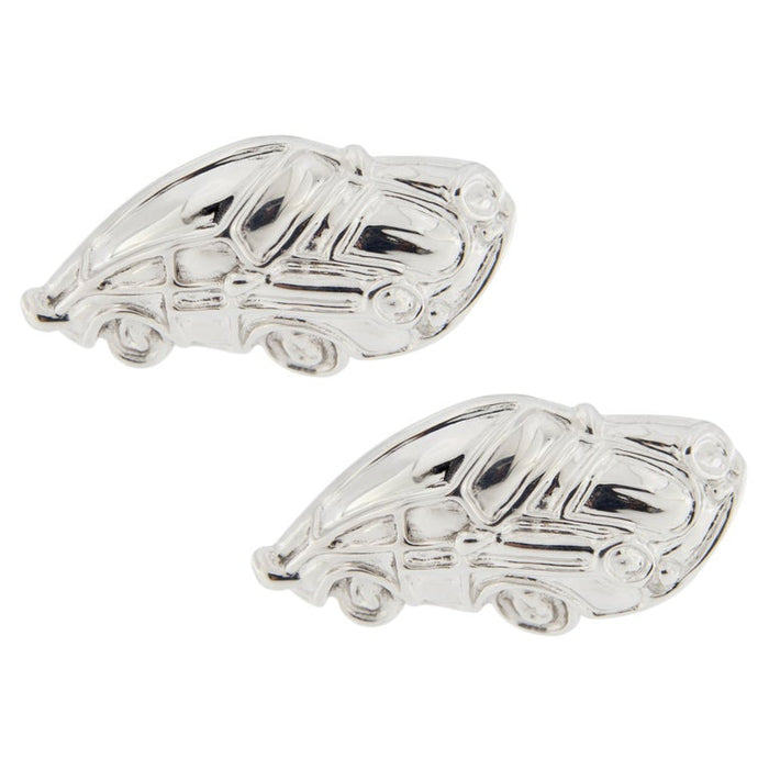 Jona Sterling Silver Rhodium-Plated Porsche Cufflinks In New Condition For Sale In Torino IT