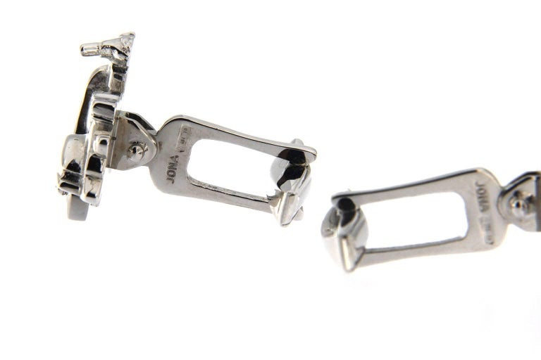 Jona Silver Scooter Cufflinks In New Condition For Sale In Torino IT