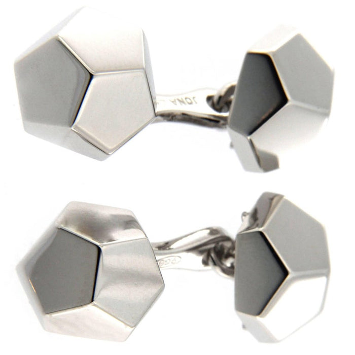 Geometric Sterling Silver Cufflinks