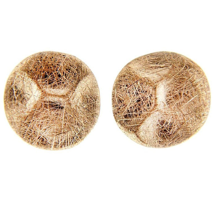 Brushed 18 Karat Rose Gold Stud Earrings