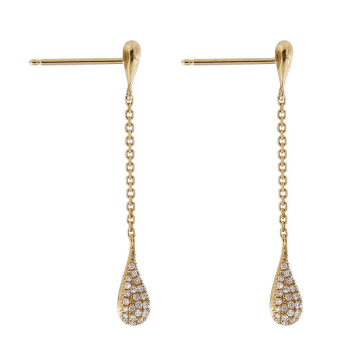 Jona White Diamond 18 Karat Yellow Gold Drop Earrings In New Condition For Sale In Torino IT