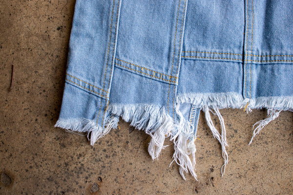ANNIE HIGH-WAISTED LIGHT WASH DENIM SKIRT