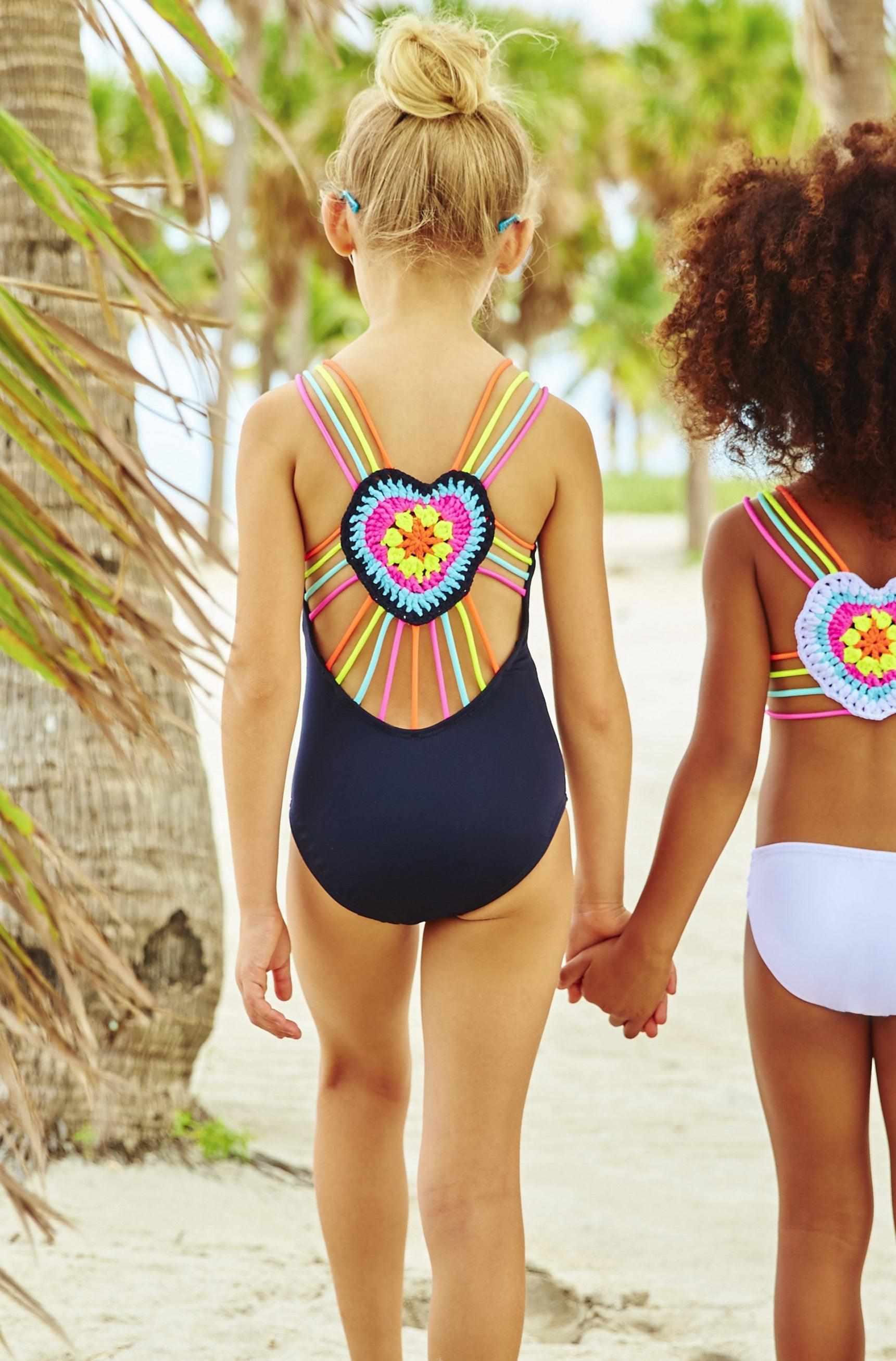 Mona Crochet Heart One-Piece