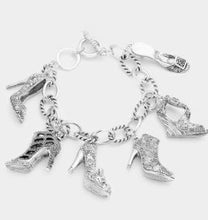 Load image into Gallery viewer, Shoe Charm Bracelet-Silver