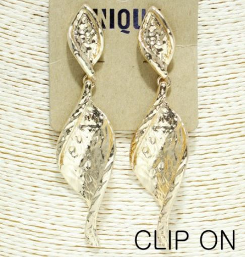 Drop Gold Metal Earrings