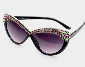 Pearl Black AKA Embellished Sunglasses