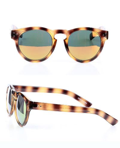 Tortoise Pantos Mirrored Sunglasses