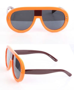 Bold Frame Oversized Sunglasses-Orange