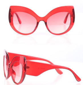 Cat-Eye Large Red Sunglasses