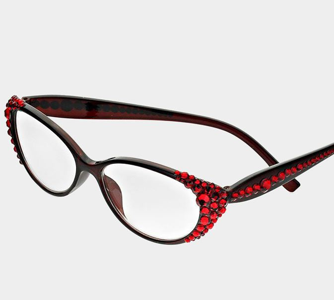 Crystal Oval Reading Glasses-Siam