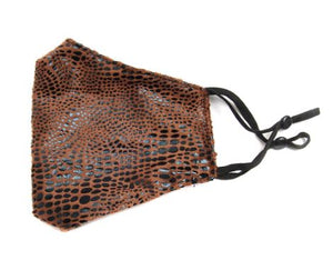 Snakeskin Mask-Brown