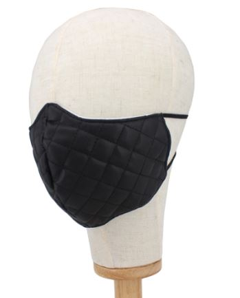 Faux Leather Mask-BLK