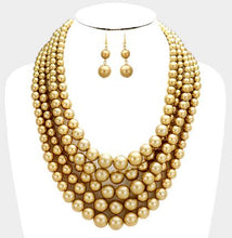 Load image into Gallery viewer, Five Layer Necklace Set