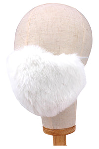 Faux Fur Mask - White