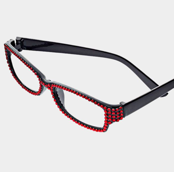 Rectangular Crystal Reading Glasses-Siam