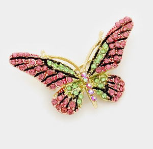 Crystal Butterly Brooch