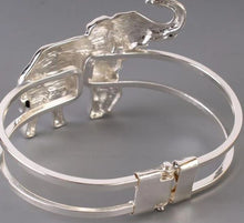 Load image into Gallery viewer, Silver Hinged Elephant Bracelet