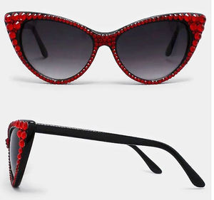 Rhinestone Cat Sunglasses - Siam