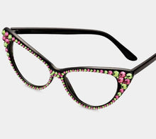 Load image into Gallery viewer, Fashion Clear Pink & Green Eyeglasses