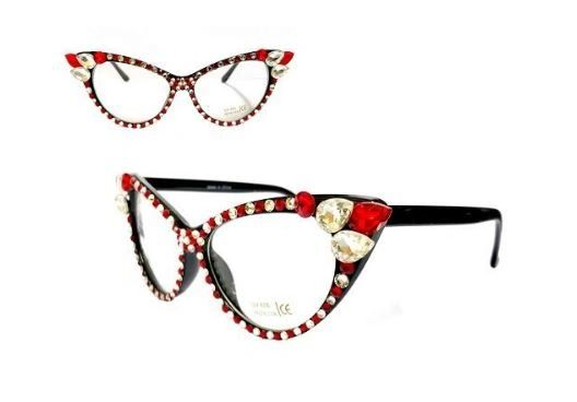 Red & White Cat Point Eyewear
