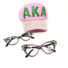 Load image into Gallery viewer, Pink & Green Cat Flower Eyewear